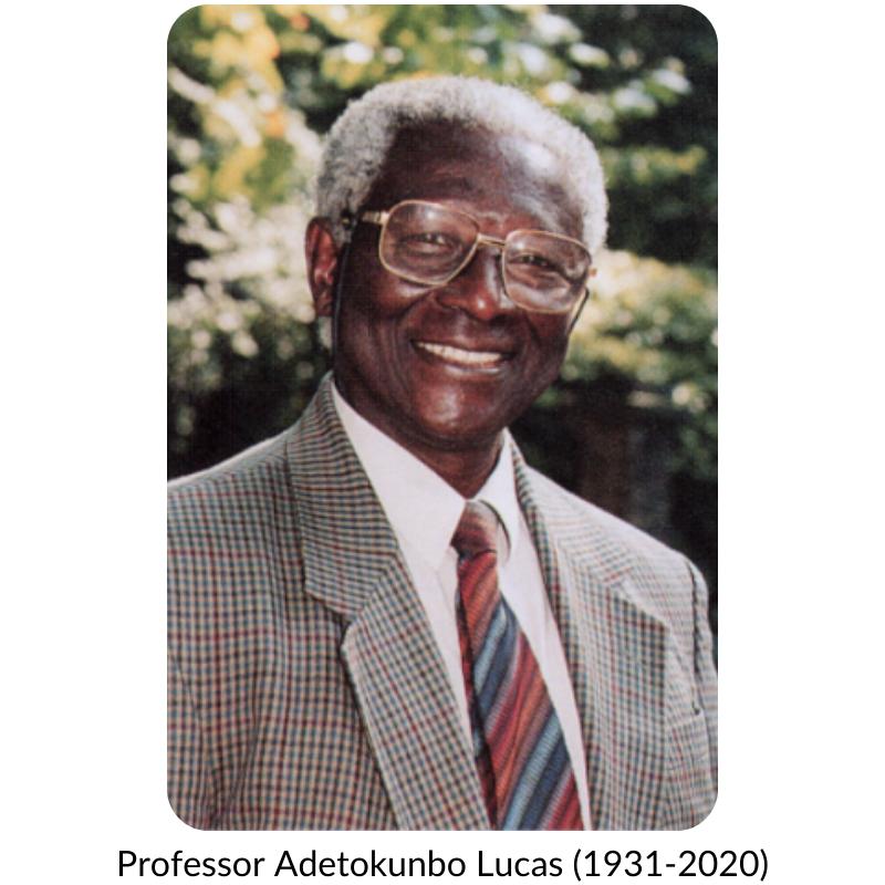 Photo of Profesor Adetokunbo Lucas, who is smiling